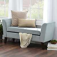 Bella Skylight Upholstered Storage Bench