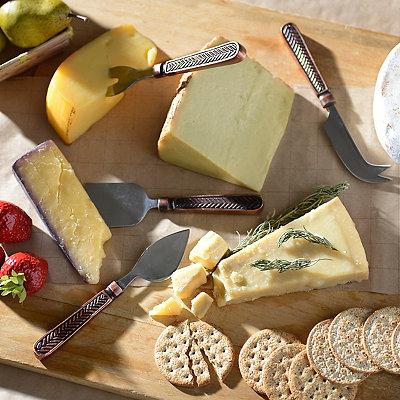 Global Market Herringbone 4-pc. Cheese Server Set