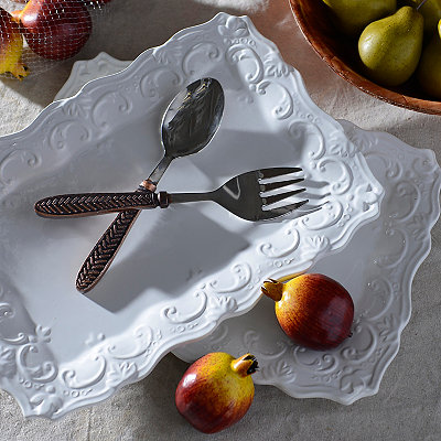 Global Market Herringbone 2-pc. Serving Set