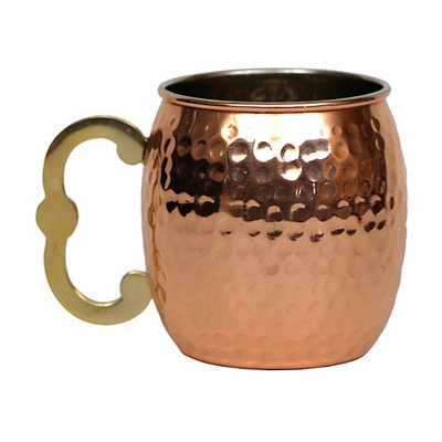 Curved Handle Moscow Mule Mug