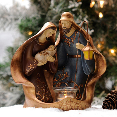 Holy Family Candle Holder