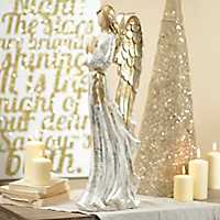 Golden Wings Angel Statue