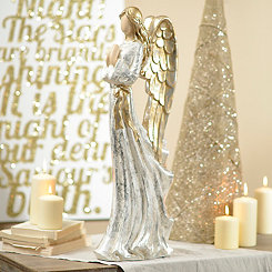 Golden Wings Angel Statue