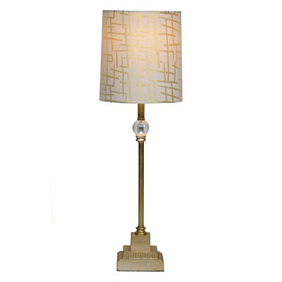Gold Crystal Orb Buffet Lamp