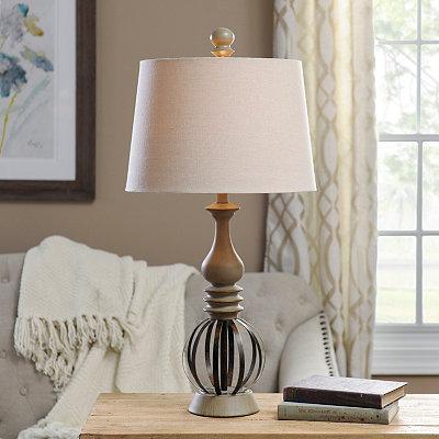Metal Orb Spindle Table Lamp