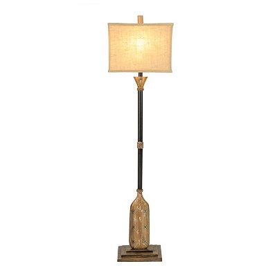 Rustic Oar Floor Lamp