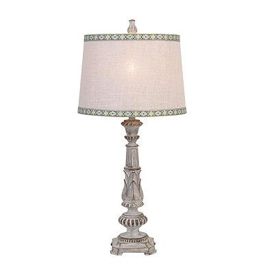 Gray Metal Rim Table Lamp