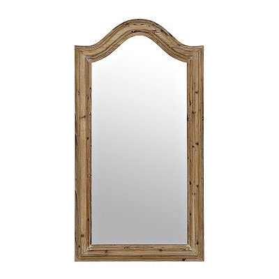 Aldean Arch Natural Framed Mirror, 31.5x59.5