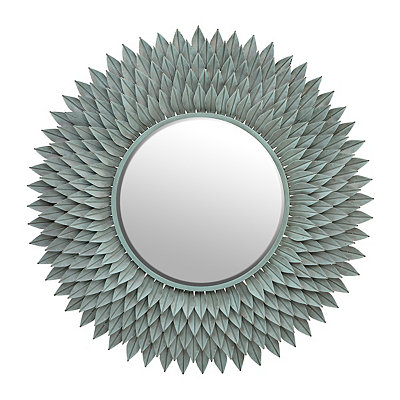 Antique Blue Chloe Floral Mirror