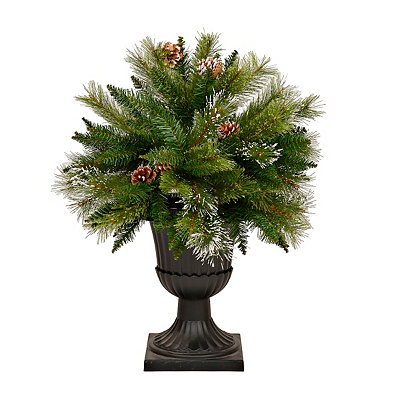 Potted Pine Cone Christmas Tree