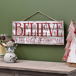 Believe Wood Plank Plaque
