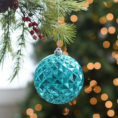 Metallic Blue Diamond Ornament