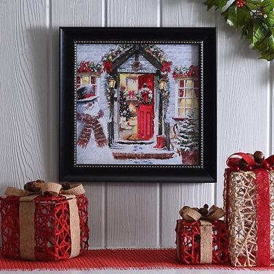 Holiday Open House Framed Art Print