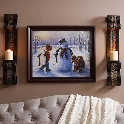 Playing in the Snow Framed Art Print