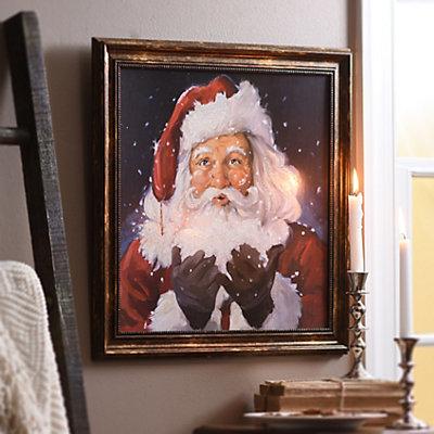 Let It Snow Santa Framed Art Print