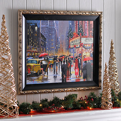 Broadway Holiday Framed Art Print
