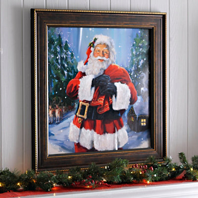 Santa's Coming to Town Framed Art Print