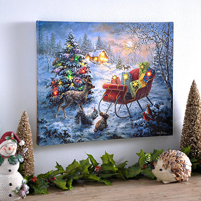 Woodland Surprise LED Canvas Art Print