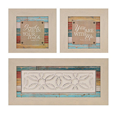 Guide Me Wood Plank Shadowboxes, Set of 3
