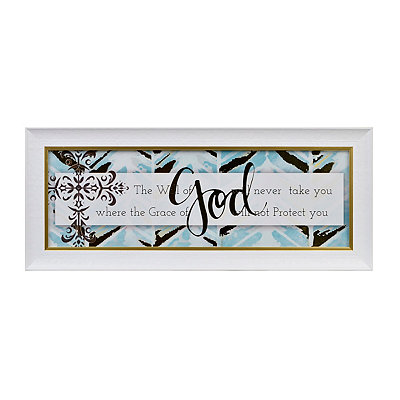 Aqua Will of God Framed Art Print