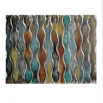 Rust Textured Metallic Abstract Canvas Art Print