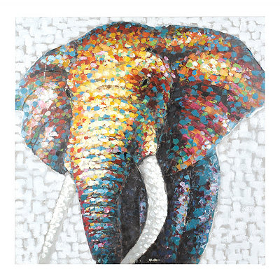 Living in Color Elephant Canvas Art Print