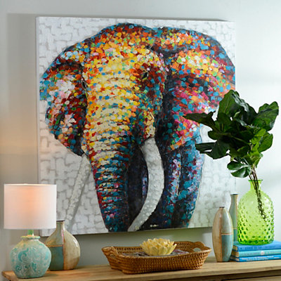 Living in Color Elephant Canvas Art
