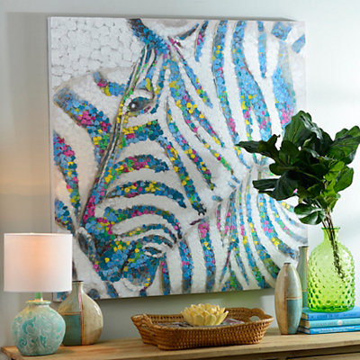 Living in Color Zebra Canvas Art