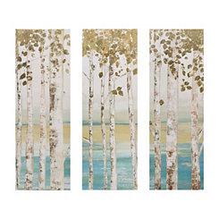 Birch Forest Canvas Art Prints, Set of 3