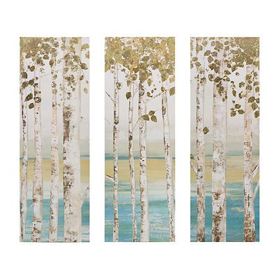 Birch Forest Canvas Art Prints, Set of 3