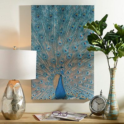 Jeweled Peacock Canvas Art Print