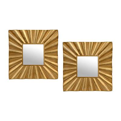 Lola Gold Mirrors, Set of 2