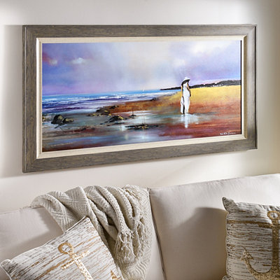 Woman on the Beach Framed Art Print