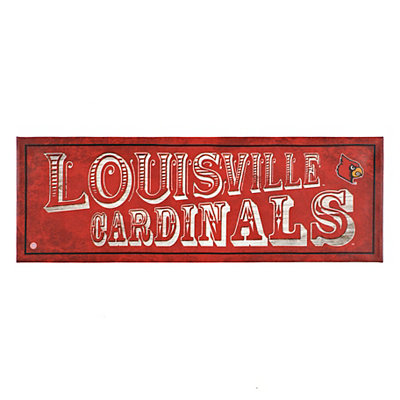 Louisville Cardinals Pub Sign Canvas Plaque
