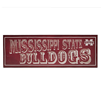 Mississippi State Pub Sign Canvas Plaque