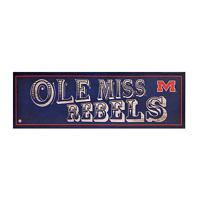 Ole Miss Rebels Pub Sign Canvas Plaque