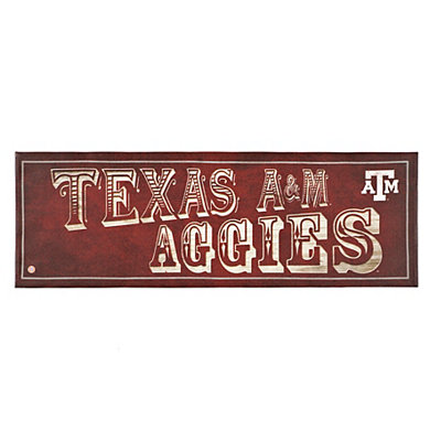 Texas A&M Aggies Pub Sign Canvas Plaque