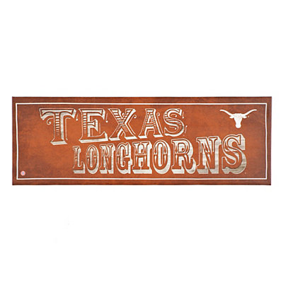 Texas Longhorns Pub Sign Canvas Plaque