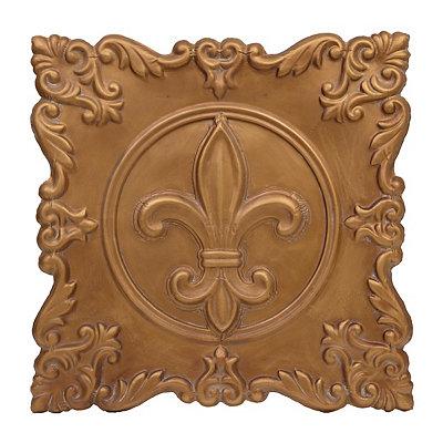 Bronze Fleur-de-Lis Metal Plaque