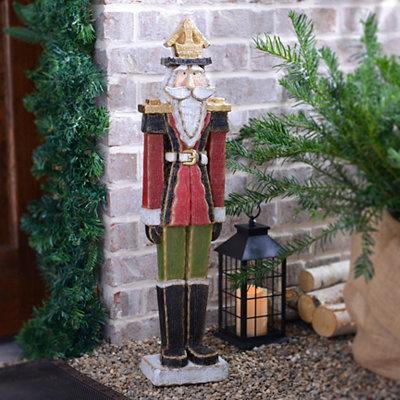 Wooden Nutcracker Soldier Statue