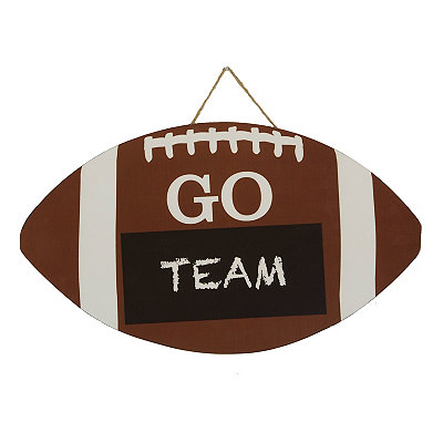 Chalkboard Football Wooden Plaque