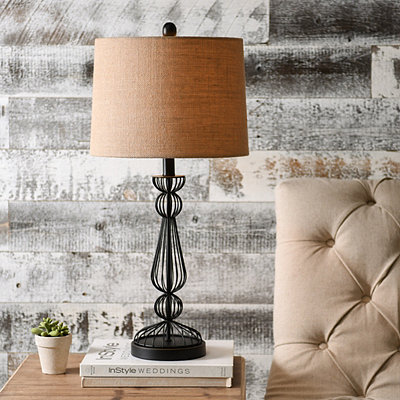 Bronze Wire Table Lamp