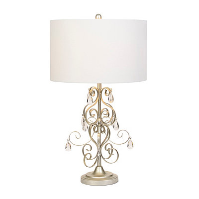 Antique Silver Leaf Chandelier Table Lamp