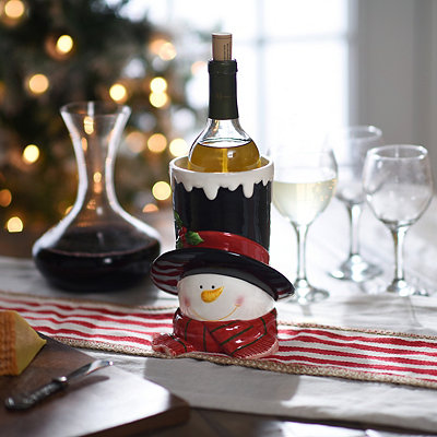 Snowman Top Hat Wine Holder