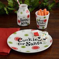 Cookies and Milk For Santa, Set of 3