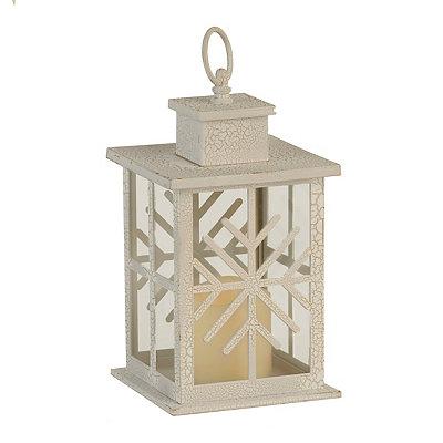 Rustic Snowflake LED Lantern