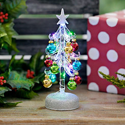 Pre-Lit Clear Glass Christmas Tree