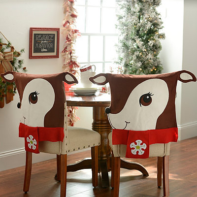 Reindeer Chair Covers, Set of 2