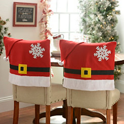 Santa Belt Chair Covers, Set of 2