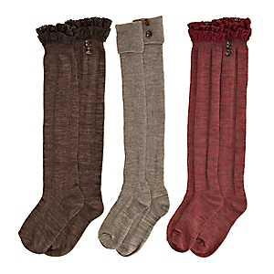 Crochet and Foldover Boot Socks